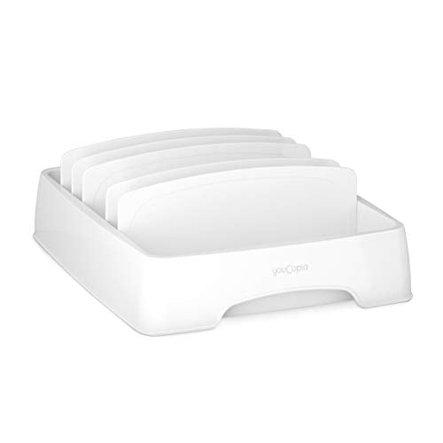 YouCopia StoraLid Food Container Lid Organizer, Small, White