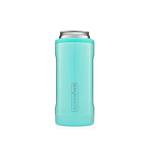 BrüMate Hopsulator Slim Double-Walled Stainless Steel Insulated Can Cooler for 12 Oz