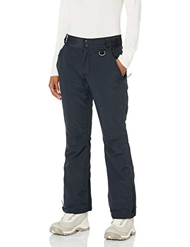 Amazon Essentials Women's Water Resistant Full Length Insulated Snow Pants, Black