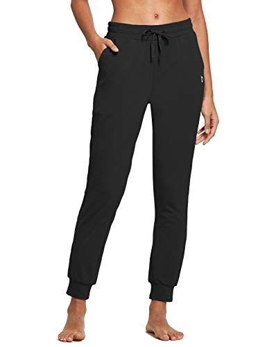 BALEAF Women's Cotton Sweatpants Leisure Joggers Pants Tapered Active Yoga Lounge
