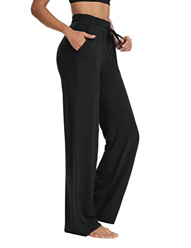 Sarin Mathews Womens Yoga Sweatpants Wide Leg Lounge Pajamas Pants Comfy