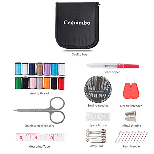 Coquimbo Sewing Kit for Traveler, Adults, Beginner, Emergency