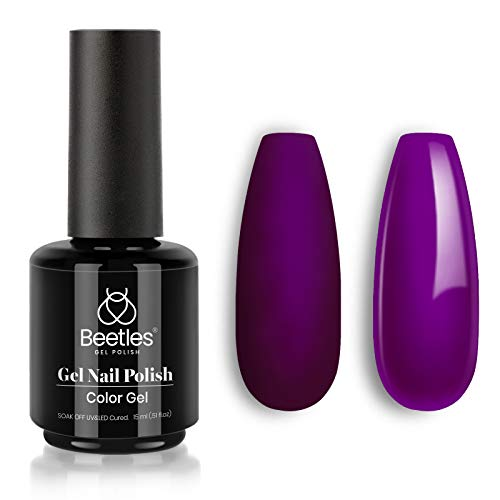 Beetles Gel Nail Polish Bonnie Plum Color Soak Off LED Nail Lamp Gel Polish