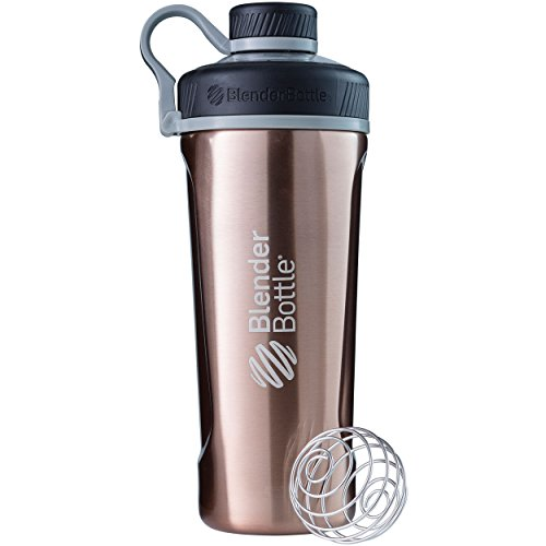 BlenderBottle Radian Shaker Cup Insulated Stainless Steel Water Bottle with Wire Whisk