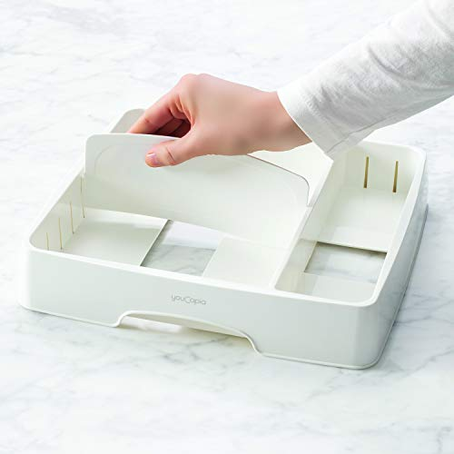YouCopia StoraLid Food Container Lid Organizer, Medium, White