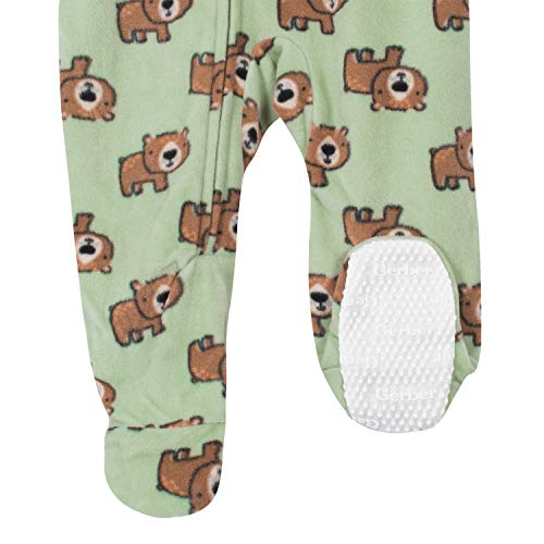 Gerber Baby Boys' 2-Pack Blanket Sleeper, Bear Green, 0-3 Months