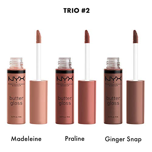 NYX PROFESSIONAL MAKEUP Diamonds and Ice Butter Gloss Trio 3-Pack