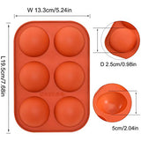 Medium Semi Sphere Silicone Mold, 4 Packs Baking Mold