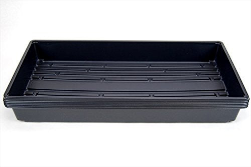 "5 Pack of Durable Black Plastic Growing Trays (Without Drain Holes) 21"" X 11"" X 2"""