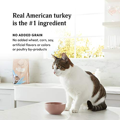Kitzy Dry Cat Food by Amazon, Turkey and Pea Recipe (4 lb bag)