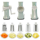 Rotary Graters 5 in 1 Cheese Grater-VEKAYA Kitchen Mandoline Slicer Easy Clean