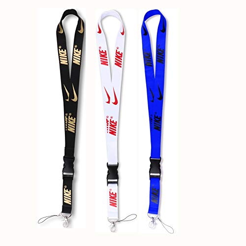 3 Pack Fashion Neck Lanyard for Keychain Phones Wallet ID Badge Holder Whistles