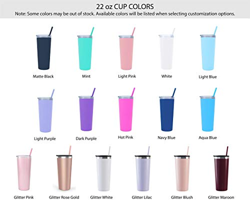 22 oz Nurse's Personalized Stainless Steel Tumbler with Custom Stethoscope Vinyl Decal