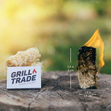 Grill Trade Firestarters - Natural Fire Starters Burn Wood Stove Grill Fireplace Camping