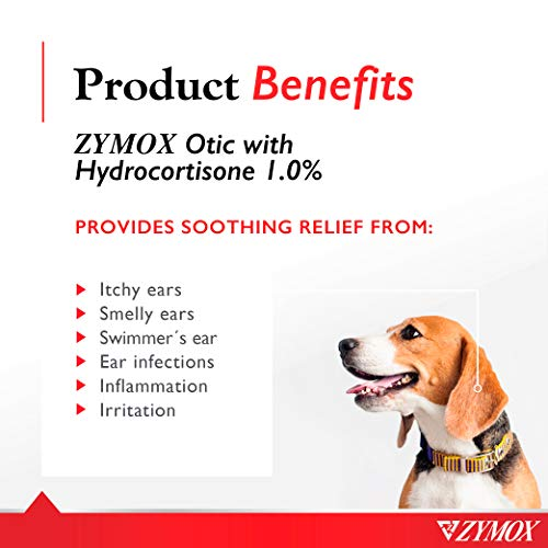 Zymox Ear Solution the Only No Pre-Clean Once-a-Day Dog and Cat Ear Solution