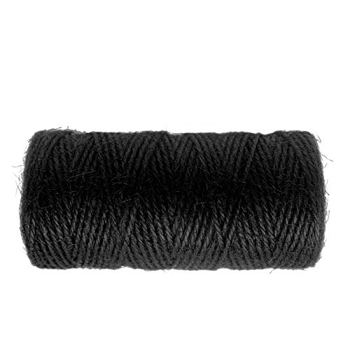 328 Feet Jute Twine,Christmas Twine,Black Jute Twine,Best Arts Crafts Gift Twine Durable