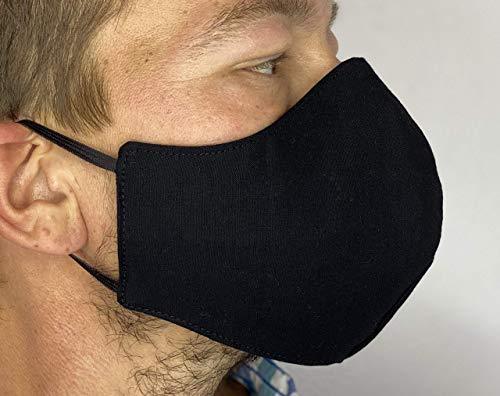 Double Extra large face mask for men with larger faces! Breathes freely, does not fog up
