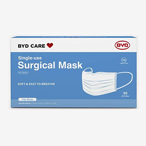 3-Ply Disposable Face Mask, One Size, Box of 50
