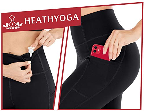 Heathyoga Yoga Pants for Women with Pockets High Waisted Leggings with Pockets