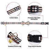 Dog Bow Tie, Dog Cat Collar with Bow Tie Buckle Plaid Dog Collar for Dogs Cats Pets