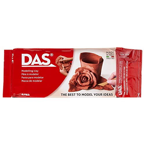 DAS Air-Hardening Modeling Clay, 1.1 Lb. Block, Terra Cotta Color (387100)