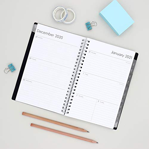 "Blue Sky 2021 Weekly & Monthly Planner, Flexible Cover, Twin-Wire Binding, 5"" x 8"""