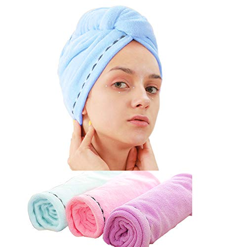 3 Pack Microfiber Hair Towel Wrap BEoffer Super Absorbent Twist Turban Fast Drying