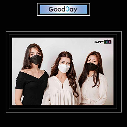 [Happy Life] 6pcs Premium 3D Disposable KF94 Face Mask, KF94 Mask, Black KF94