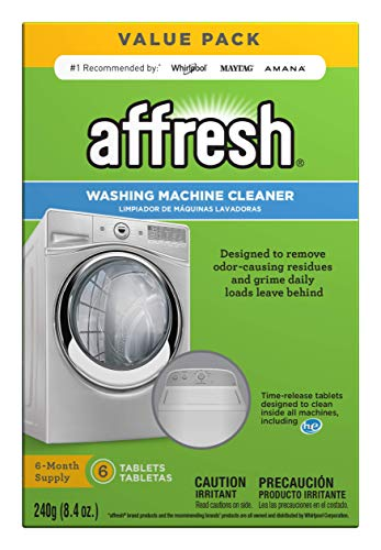 Affresh W10501250 Washing Machine Cleaner, 6 Tablets: Cleans Front Load