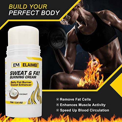 Sweat Cream Weight Loss Fat Burner for Women and Men, Sweat Workout Enhancer Gel