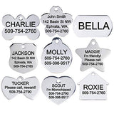 GoTags Stainless Steel Pet ID Tags, Personalized Dog Tags and Cat Tags, up to 8 Lines