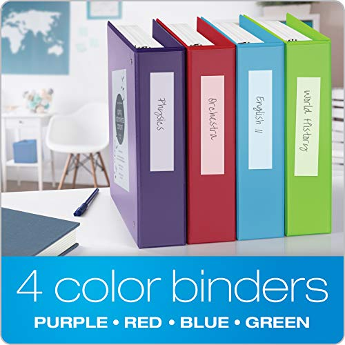 Cardinal 3 Ring Binders, 2 Inch Binder with Round Rings, Holds 475-Sheets