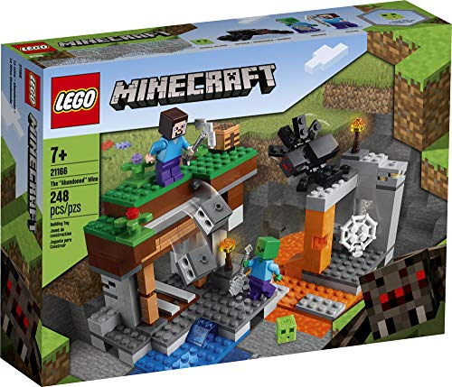 LEGO Minecraft The Abandoned Mine 21166 Zombie Cave Battle Playset with Minecraft