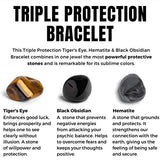 Triple Protection Bracelet - For Protection - Bring Luck And Prosperity - Hematite