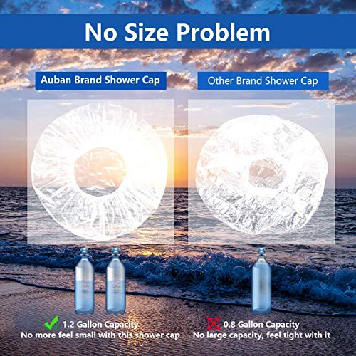 Auban 30PCS Disposable Shower Caps, Individually Wrapped Larger