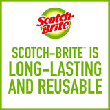 Scotch-Brite Stainless Steel Scrubbers, Ideal for Uncoated Cookware, Powerful Scrubbing