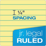 "TOPS The Legal Pad Writing Pads, 5"" x 8"", Jr. Legal Rule, Canary Paper, 50 Sheets"