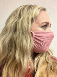 Adult 5x7 Blush Single Layer Breathable Cotton Mask, Lightweight, Washable, Adjustable