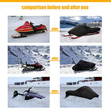 OVCRNIBI Trailerable Snowmobile Cover Waterproof Snow Machine Sled Cover Large