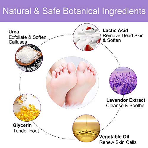 Foot Peel Mask, 2 Pack Exfoliating Foot Peeling Spa Masks for Dead Skin and Calluses (Lavender)