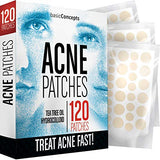 Acne Patches (120 Pack), Tea Tree Oil and Hydrocolloid Pimple Patches