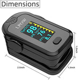 Pulse Oximeter Fingertip, Blood Oxygen Saturation Monitor for Pulse Rate, Heart Rate