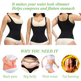 YADIFEN Women Waist Trainer, Corset with Straps Corset Adjustable Neoprene Sweat