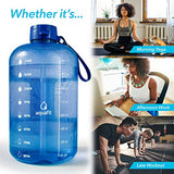 1 Gallon Water Bottle With Time Marker - Large Water Bottle Gallon Water Bottle