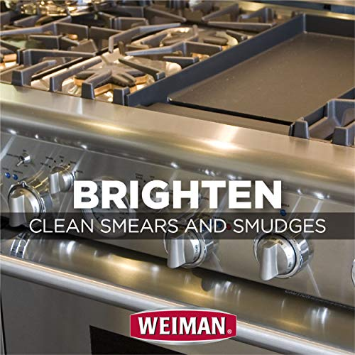 Weiman Stainless Steel Cleaner and Polish - Streak-Free Shine for Refrigerators