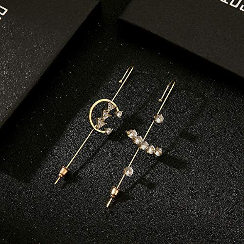 Ear Wrap Crawler Hook Earrings | Hypoallergenic Piercing Gold Ear Cuffs Crawler Hook