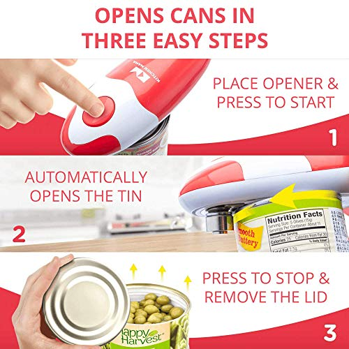 Kitchen Mama Electric Can Opener: Open Your Cans with A Simple Push of Button