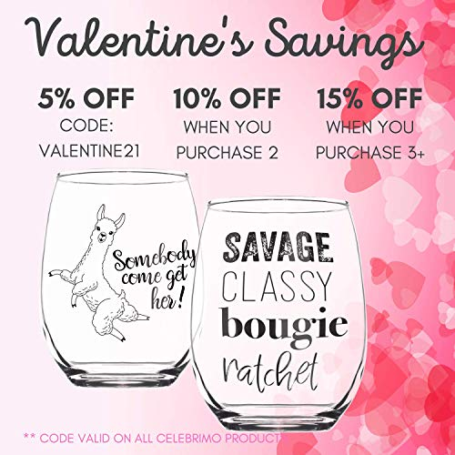 Savage Classy Bougie Ratchet - Stemless Wine Glass Birthday Gifts for Women