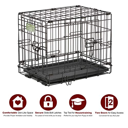 Dog Crate | MidWest iCrate XXS Double Door Folding Metal Dog Crate w/ Divider Panel