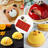 2PCS Silicone Mold For Chocolate, Cake, Jelly, Pudding, Handmade Soap, BPA Free Cupcake Baking Pan (8 Holes )